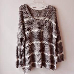 Free People Greenwich Village Striped Sweater